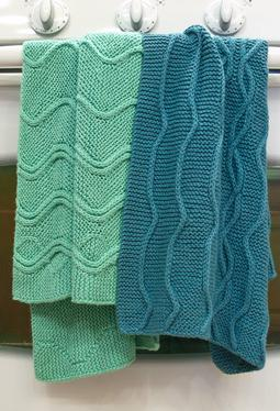 Cotlin Hand Towels with Traveling Stitch Designs
