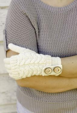Bracken Fingerless Mitts & Gloves