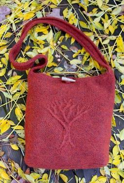 Tree of Life Felted Bag