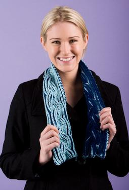 Reversible Braided Cable Scarf