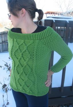 Twisted Trellis Crochet Sweater