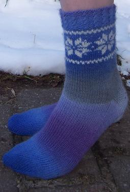 Winter Sky Socks
