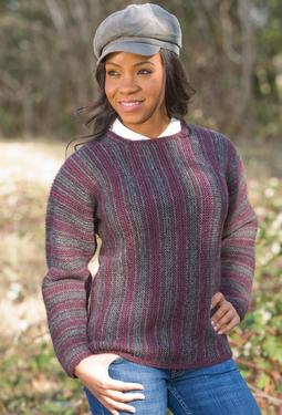 Striped Square-Neck Sweater
