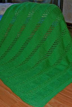 Lattice Stripe Baby Blanket