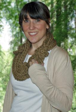 Golden Gate Necklace Crochet Scarf