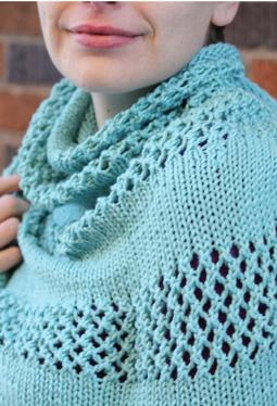 WORK+SHELTER Lace Striped Shawl