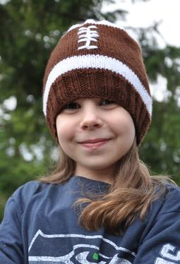 Football Hat - Knitting Patterns and Crochet Patterns from KnitPicks.com
