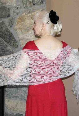 Frost Flower Lace Stole