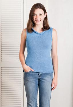Drapey Cowl Neck Tank Top