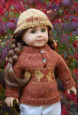 Falling Leaves Hat and Pullover Set for 18