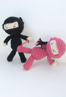 Ninja Attack! Crochet Dolls