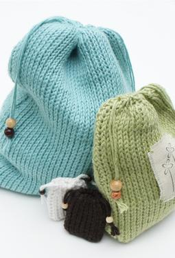 Free Knitting Pattern Gift Bag : FREE KNITTING PATTERNS   DRAWSTRING BAGS   KNITTING PATTERN