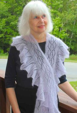 Wild Orchid Ruffled Lace Scarf