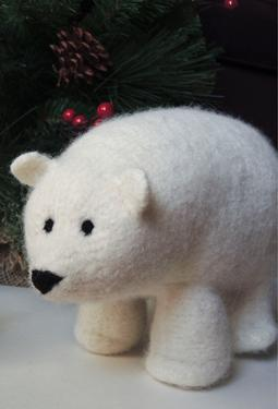 FREE KNITTING PATTERN FOR POLAR BEAR - VERY SIMPLE FREE KNITTING PATTERNS