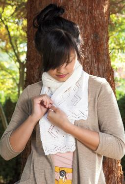 Winding Ribbons Lace Scarf
