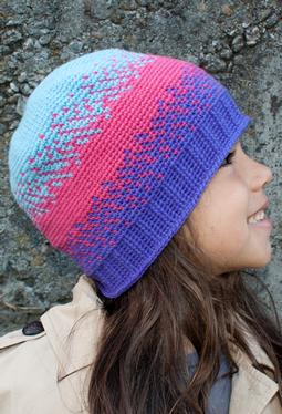 All Ages Pixelated Crochet Beanie