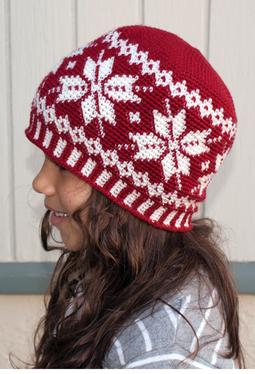 All Ages Frozen Snowflakes Crochet Beanie