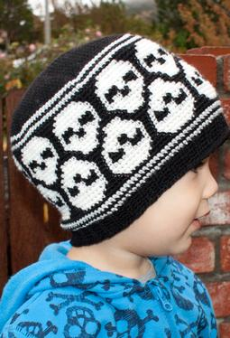 All Ages Super Skull Crochet Beanie
