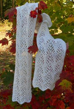 Frost on the Trees Lace Scarf