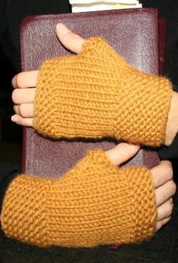 My First Fingerless Mittens