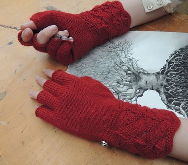 Masala Fingerless Gloves Pattern
