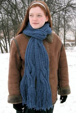 Winding River Ribbed Scarf Pattern