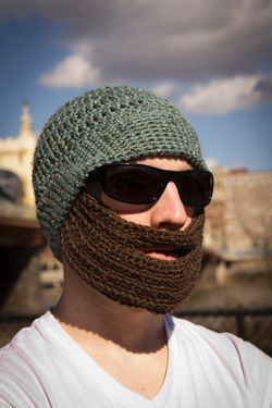 Crochet Bearded Hat