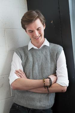 Knitting Pattern Central Men s Vests : Mens Grey Vest - Knitting Patterns and Crochet Patterns ...