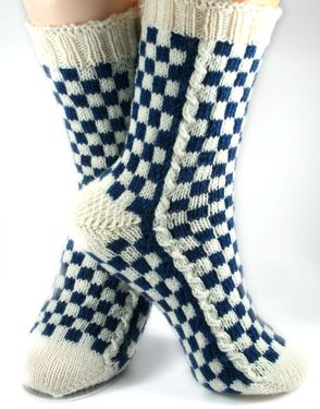 LouisVuitton-Inspired Socks Pattern