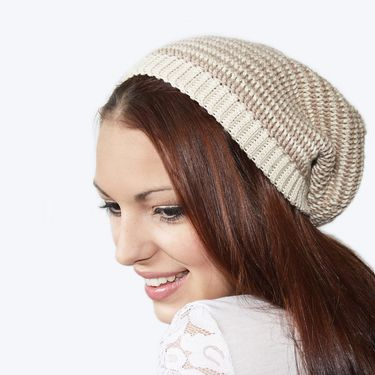 Crochet Striped Slouch Hat Pattern