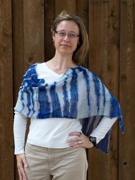 Shibori Interlude Stole Pattern