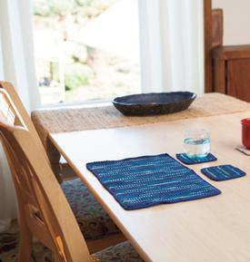 What the Heck? Home Dec! Tunsian Crochet Placemat and Coasters