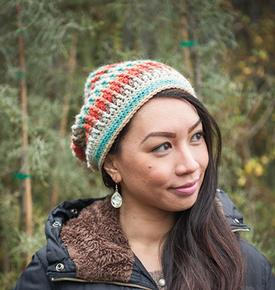 Sunset Ridge Crochet Slouch Hat
