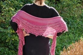 Moth Orchid Crescent Shawl
