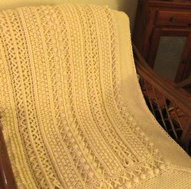 Skerin Aran for My Carolyn Crochet Afghan