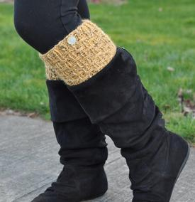 Cross Hatch Boot Cuffs