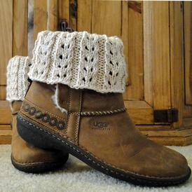 Eyelet Ivory Boot Cuffs