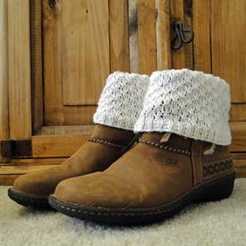 Teardrop White Boot Cuffs
