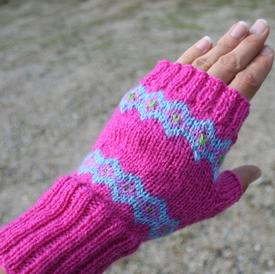 Sunburst Fingerless Mitts