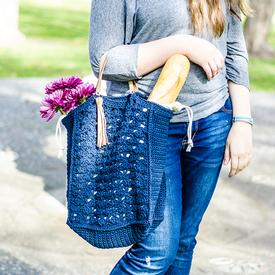 French Market Crochet Tote