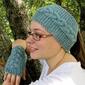 Chase the Chill Away Fingerless Mitts and Earwarmers