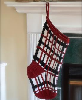 Madras Plaid Stocking