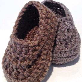 Oh Baby! Baby Boy Crochet Loafers