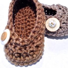 Oh Baby! Buttoned Crochet Ballet Shoes