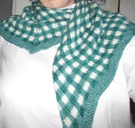 Gingham Check Shawlette
