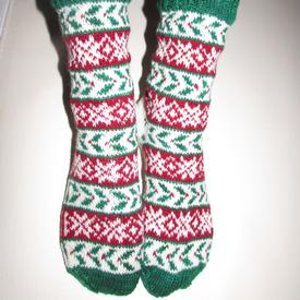 His & Hers Holly Socks