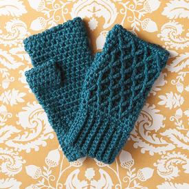 Lattice Work Fingerless Mitts