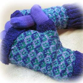 Tessellating Diamonds Mitts