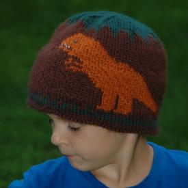 Extra Warm T-Rex Dinosaur Hat for Kids