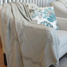 Quatrefoil Throw - Filet Crochet